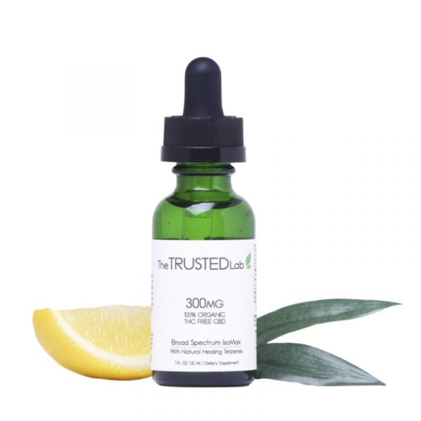 The Trusted Lab CBD IsoMax 300 mg (Broad Spectrum CBD Tincture) - anxiety relief, pain relief