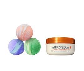 The Trusted Lab CBD bathbomb and cbd cream