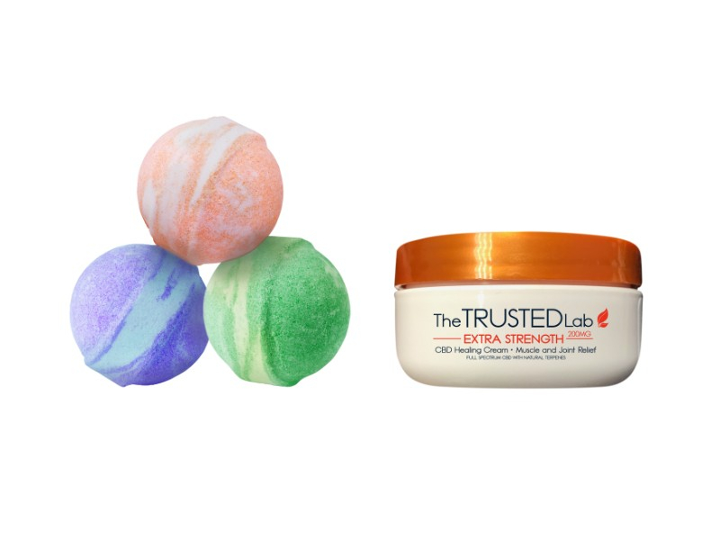 The Trusted Lab CBD Bathbombs and Cream