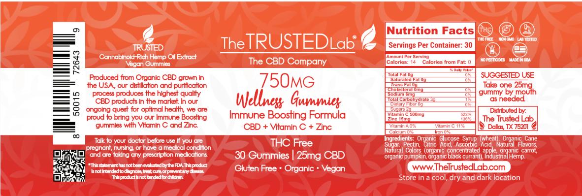 Wellness Gummy Label